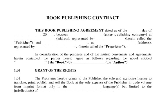 The Foreign Writer'S Guide To Publishing House Contract